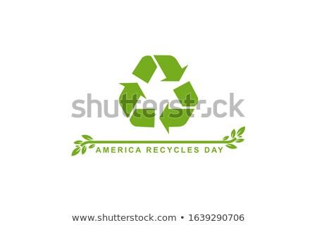 15 mundo reciclagem dia calendário cartão Foto stock © Olena