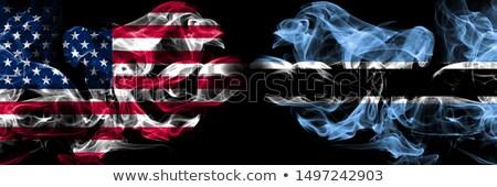 Piłka nożna płomienie banderą Botswana czarny 3d ilustracji Zdjęcia stock © MikhailMishchenko