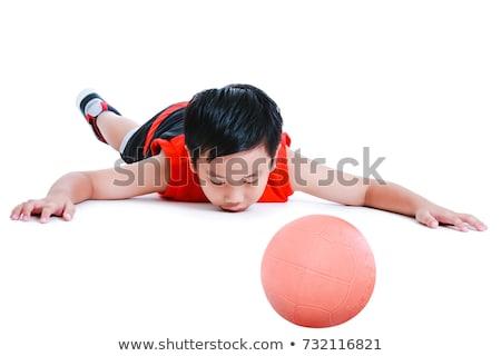 young boy lying prone on floor Stock photo © IS2