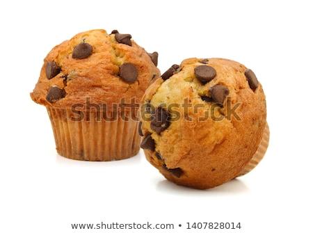Muffin csokoládé chip háttér Stock fotó © M-studio