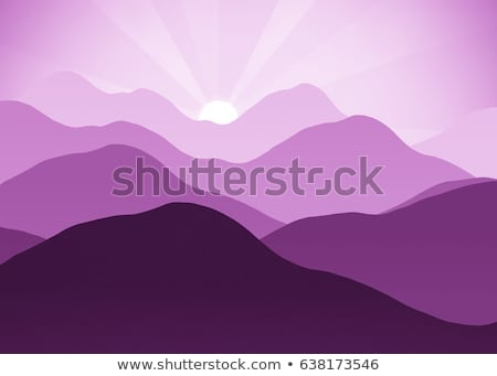 Pink mountain hazy daybreak Stock photo © wildman
