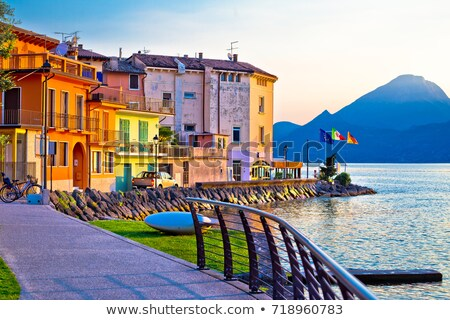 Town of Malcesine on Lago di Garda watefront view Stock photo © xbrchx