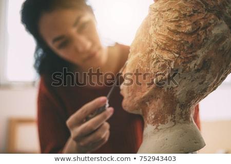 Artist working on sculpture Stock photo © IS2