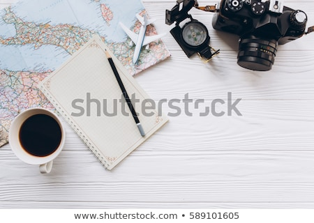 holiday and tourism conceptual image with travel accessories stock photo © wavebreak_media