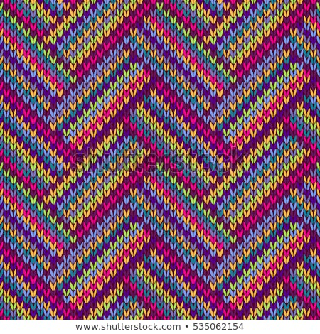 Knit Seamless Multicolor Striped Pattern Stock photo © ESSL