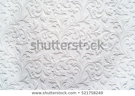 ダマスク織 フローラル セット 黒白 デザイン 要素 ストックフォト © derocz