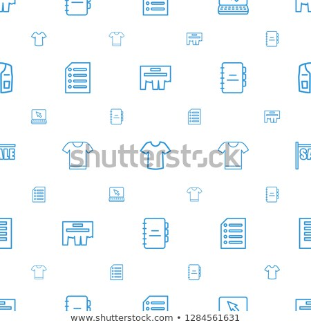 notebook outline icon. isolated document paper note icon in thin line style for graphic and web desi stock photo © taufik_al_amin