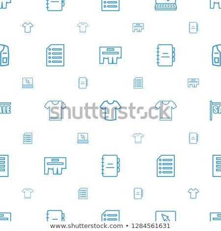 Notebook skicc ikon izolált irat papír Stock fotó © taufik_al_amin
