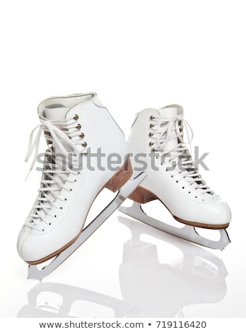 Korcsolyázás cipők lányok illusztráció pár áll Stock fotó © lenm