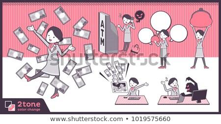 タイプ キャビン 12 オフィス 女性 スーツ ストックフォト © toyotoyo