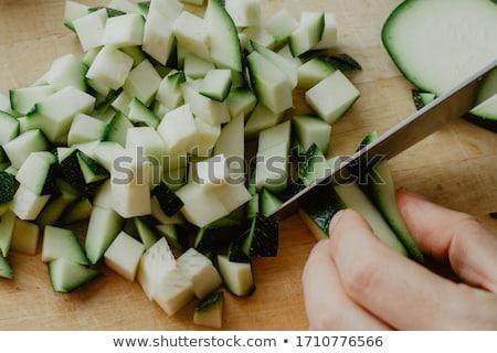 Cukkini fa zöldségek friss zöld klasszikus Stock fotó © mythja