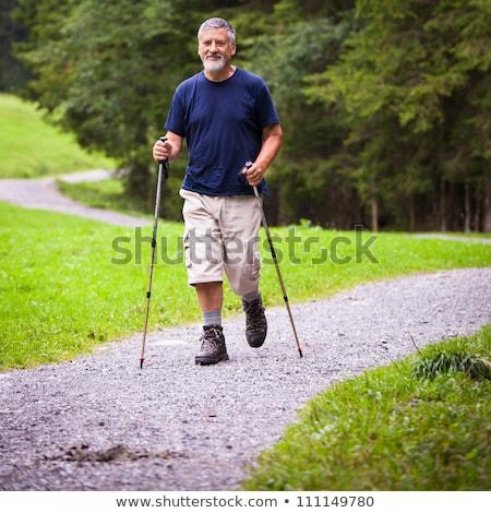 シニア 男 徒歩 屋外 ストックフォト © lightpoet