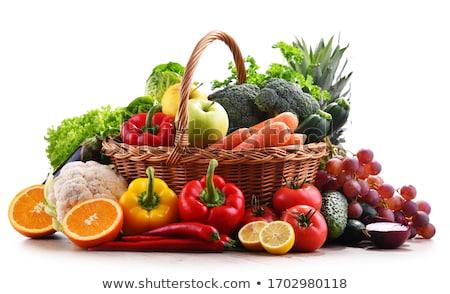 Fresco orgânico frutas preto topo ver Foto stock © YuliyaGontar