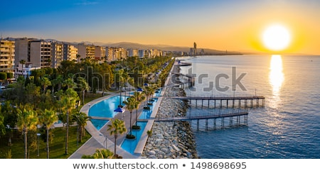 桟橋 地中海 海 木材 自然 風景 ストックフォト © boggy