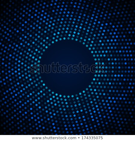light blue background with white circular halftone pattern Stock photo © SArts
