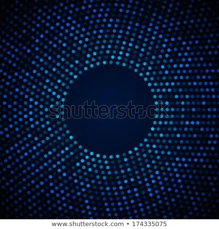 Azul claro blanco circular medios tonos patrón resumen Foto stock © SArts