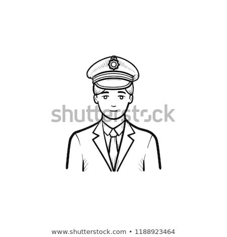 trein · schets · doodle · icon · treinstation - stockfoto © rastudio