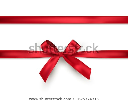 shiny red satin ribbon on white background vector red bow and ribbon stock photo © fresh_5265954