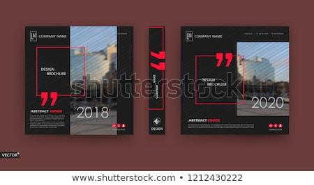 Budynku miasta informacji karty zestaw architektury Zdjęcia stock © Linetale