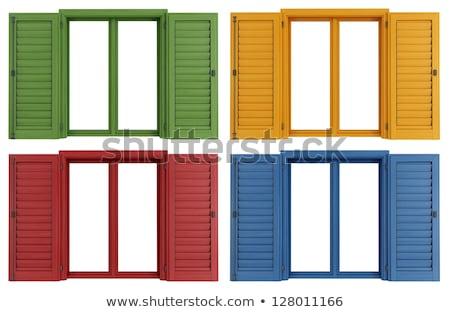 カラフル 窓 表示 建物 家 ストックフォト © boggy