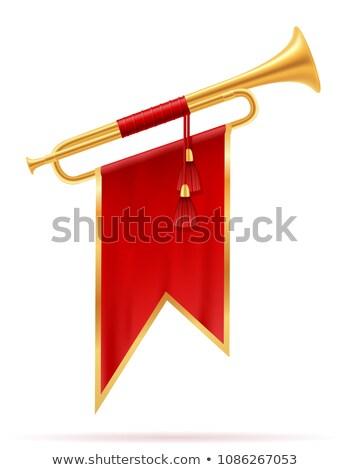 şerit bayrak trompet bayraklar müzik aletleri kullanılmış Stok fotoğraf © robuart