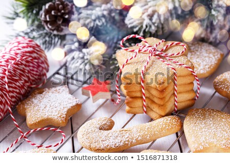Stock photo: Christmas shortbread cookies