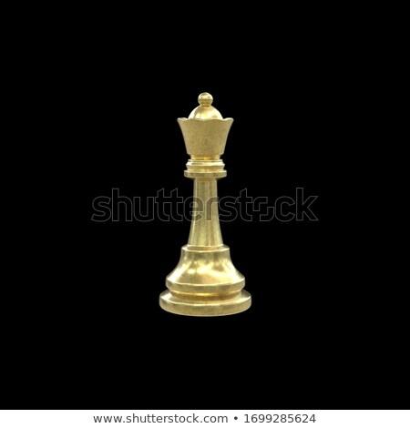 Tabuleiro de xadrez dourado peças de xadrez moderno ilustração 3d esportes Foto stock © limbi007