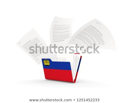 Folder with flag of liechtenstein Stock photo © MikhailMishchenko