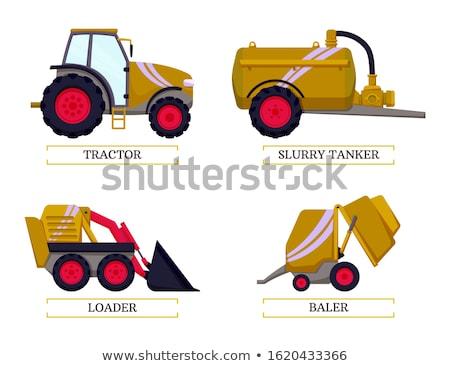 Mezőgazdasági berendezés tömörítés széna izolált ikon Stock fotó © robuart