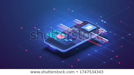 Stock photo: Nfc Connection Concept Vector Illustration