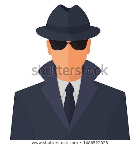 Anonimowy ikona człowiek maska znak zapytania wektora Zdjęcia stock © smoki