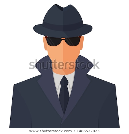 Anónimo icono hombre máscara signo de interrogación vector Foto stock © smoki