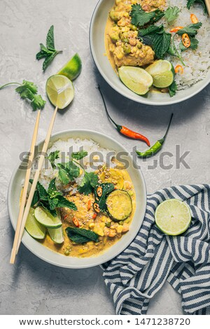 Yellow curry chicken and vegetable Stock photo © colematt