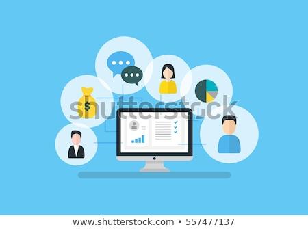 ストックフォト: 顧客 · 関係 · 管理 · マネージャ · 手 · 戦略