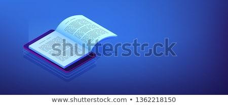 ebook · lector · electrónico · libro · 3D · Screen - foto stock © rastudio