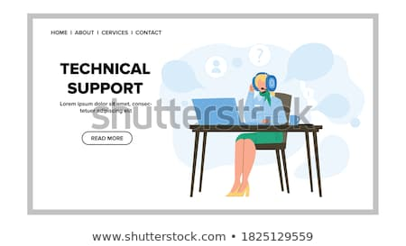 Technical Support Online Web Page, Operators Aid Stock photo © robuart