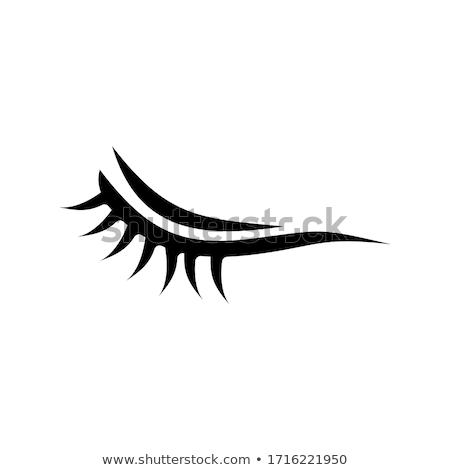 アイコン 孤立した 白 眼 抽象的な ストックフォト © barbaliss
