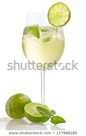 hugo prosecco with ice and lime stock photo © grafvision