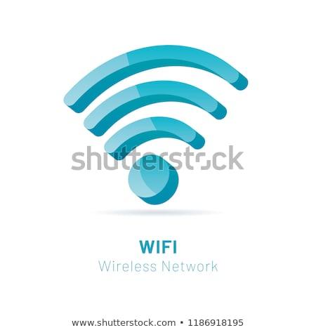 Green Wi Fi sign 3D Stock photo © djmilic