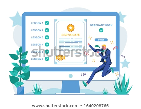Online Education Obtaining Knowledge in Distance Stockfoto © robuart