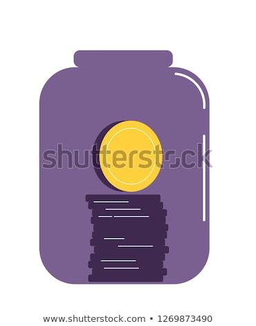 moedas · jarra · faculdade · fundo · etiqueta · vidro - foto stock © szefei