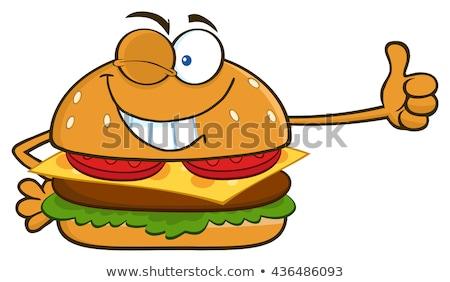 Hambúrguer isolado Foto stock © hittoon