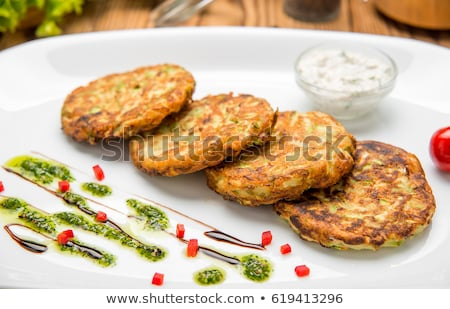 Tasty vegan burger preparation Stock photo © Anna_Om