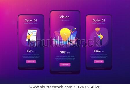visão · aplicativo · interface · modelo · equipe · de · negócios - foto stock © RAStudio