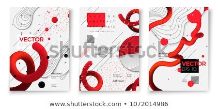 white modern presentation memphis style banner Stock photo © SArts