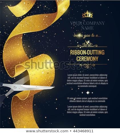 открытие церемония баннер лента фейерверк Сток-фото © SArts