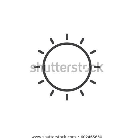 солнце линия икона вектора линейный Сток-фото © kyryloff