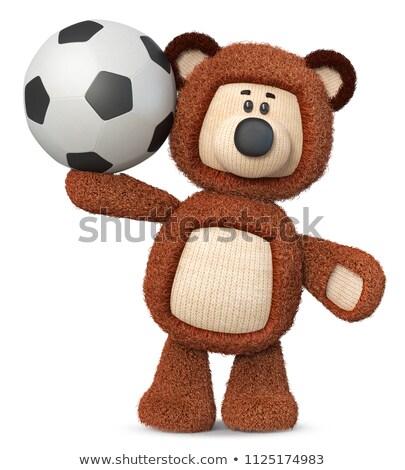 3d · illustration · komik · oyuncak · futbol · topu · kabarık - stok fotoğraf © karelin721