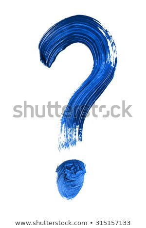 Question mark with gouache Stock photo © restyler
