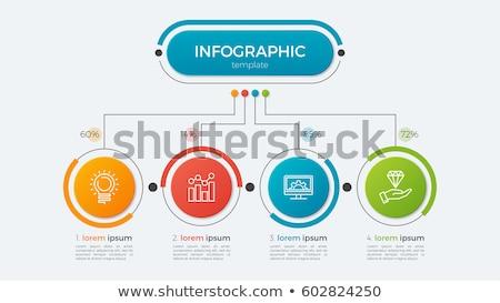 Négy lépcső üzlet infografika sablon siker Stock fotó © SArts